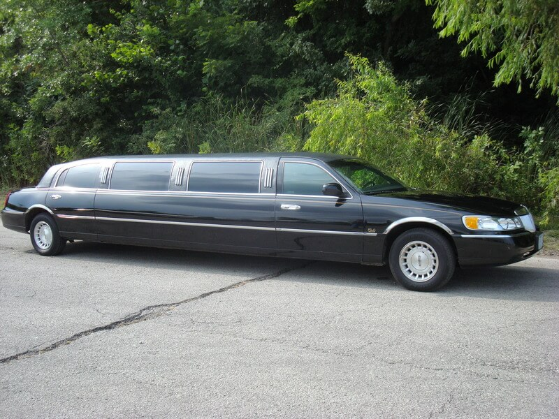 Passenger's side of our black limousine