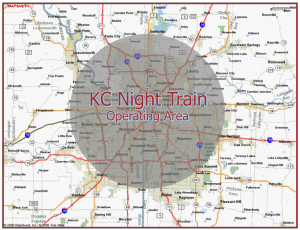 Map showing our operating area