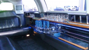 Black Limousine has a fully stocked bar