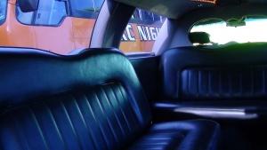 Interior of Black Limousine
