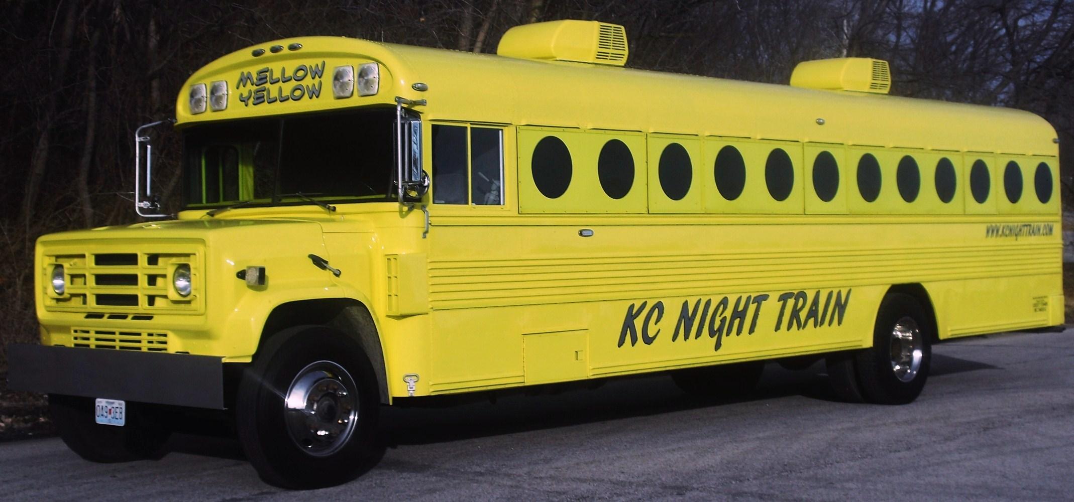 Yellow Party Bus Rental | KC Night Train
