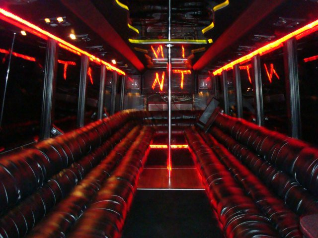Black Vip Limo Style Party Bus Rental Kc Night Train