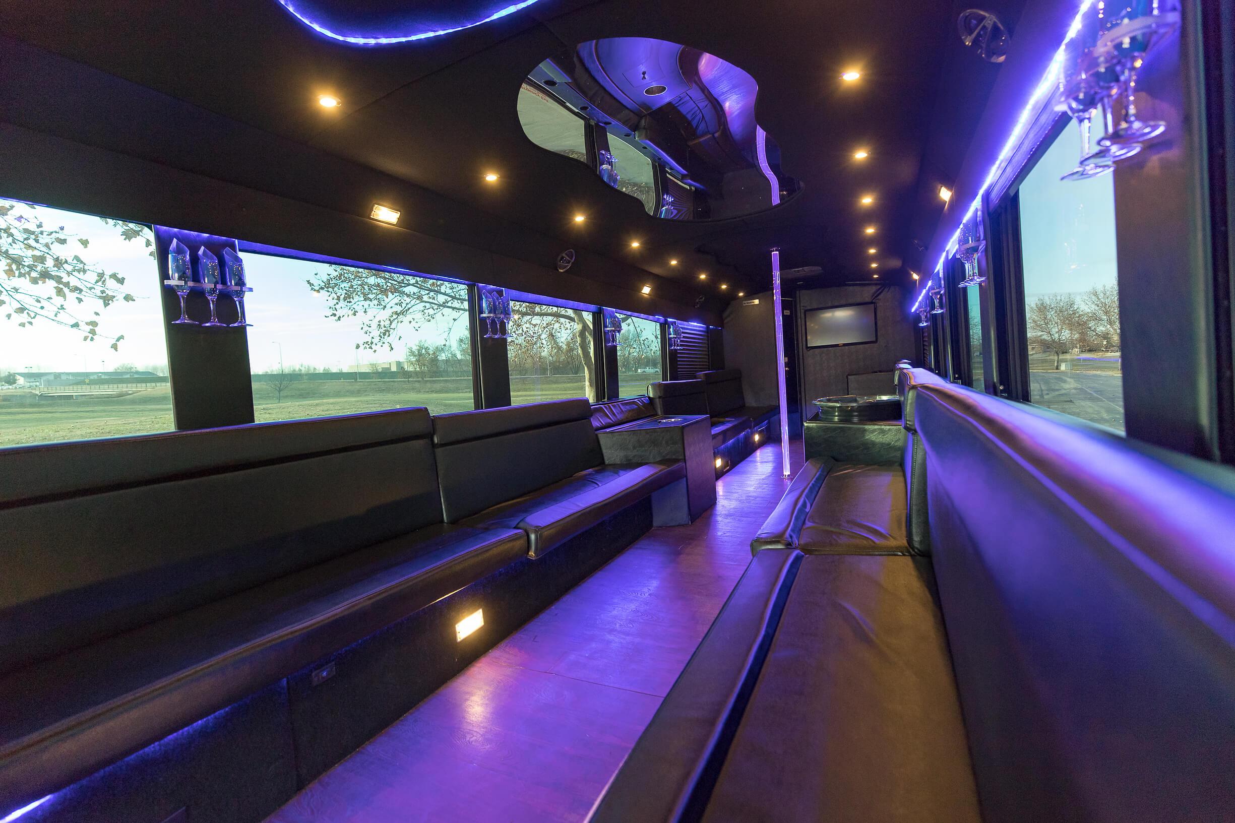 Ambassador Bus (Interior, Rear, View 1)
