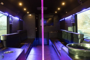 Ambassador Bus (Interior, Rear, Dance Pole with Red Lighting)