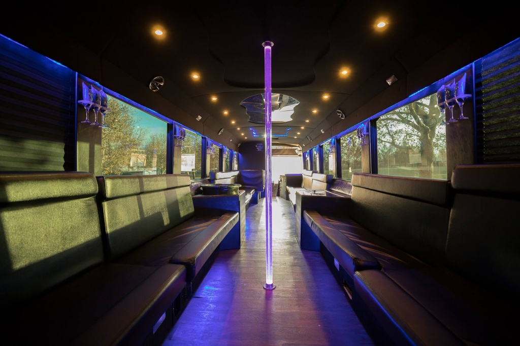 Ambassador Bus (Interior, Front, View 1)