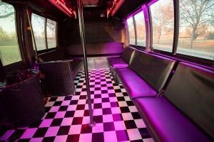 Orange Party Bus (Interior, Rear, Dance Pole, Dance Floor)