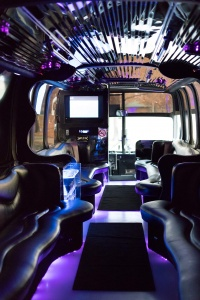 Limo Bus (Interior, Front, View 1)
