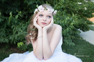 Bride dreaming of her wedding day